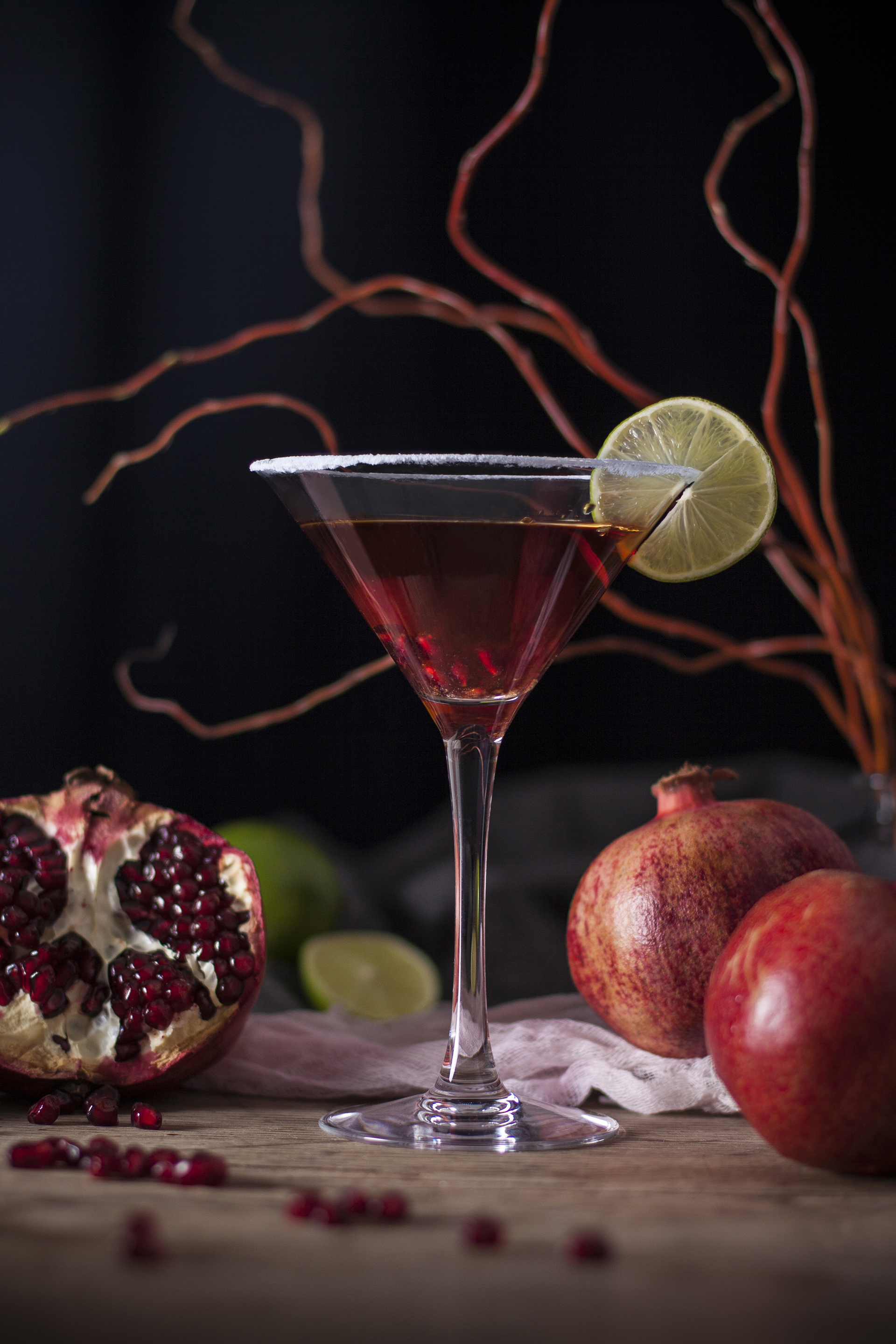 pomegranate & lime cosmo