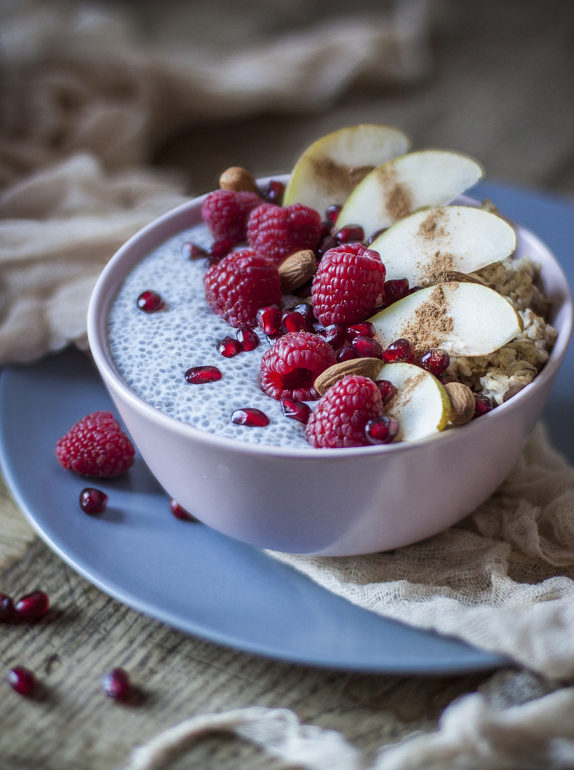 oatmeal and chia bowl